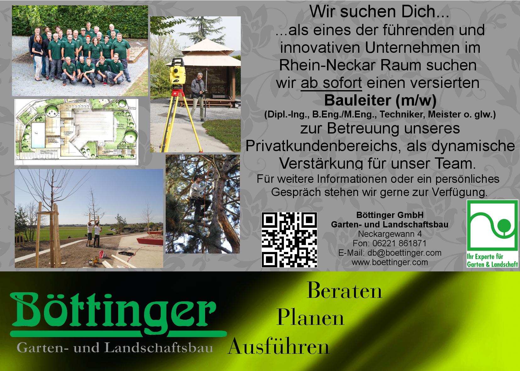 Karriere | Garten- und Landschaftsbau Boettinger
